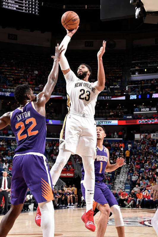 Smoothie King Center Art Print featuring the photograph Anthony Davis by Bill Baptist