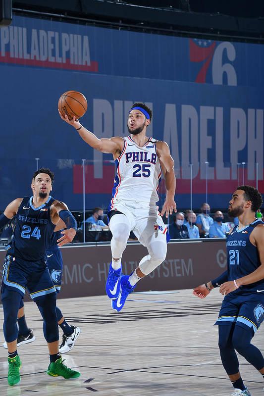 Nba Pro Basketball Art Print featuring the photograph Ben Simmons by Bill Baptist