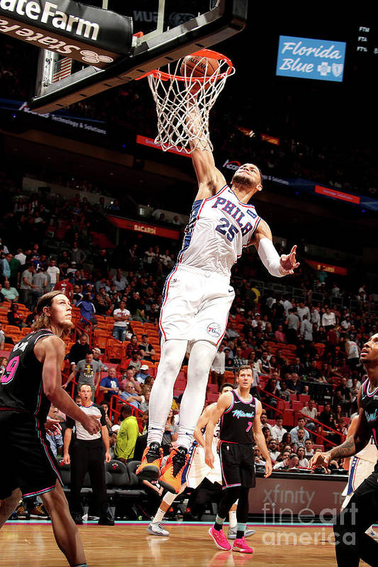 Nba Pro Basketball Art Print featuring the photograph Ben Simmons by Issac Baldizon