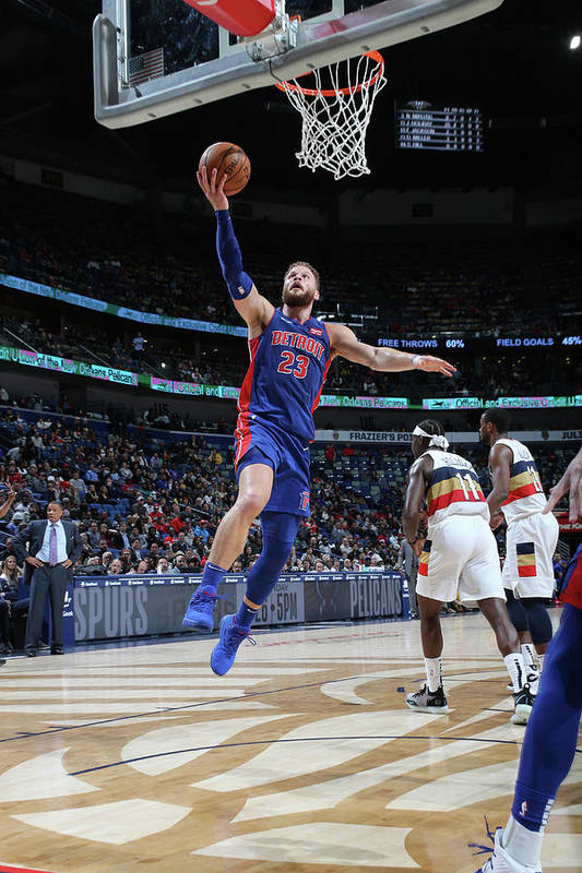 Smoothie King Center Art Print featuring the photograph Blake Griffin by Layne Murdoch Jr.