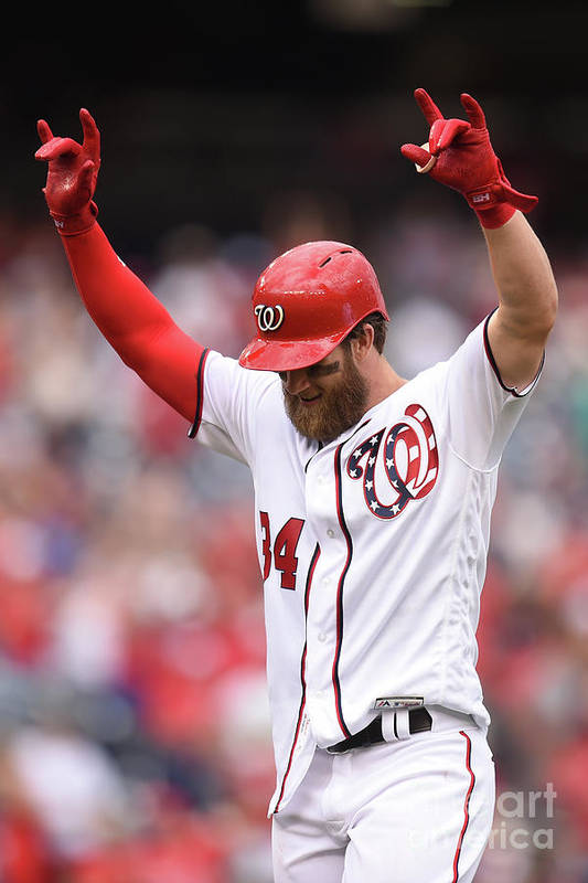 Three Quarter Length Art Print featuring the photograph Bryce Harper by Mitchell Layton