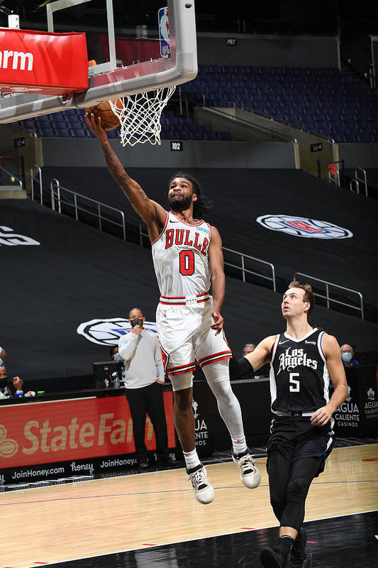 Coby White Art Print featuring the photograph Chicago Bulls v LA Clippers by Adam Pantozzi