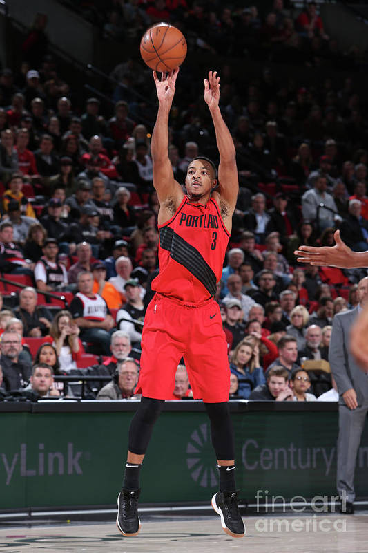 Nba Pro Basketball Art Print featuring the photograph C.j. Mccollum by Sam Forencich