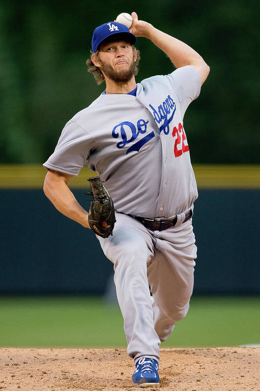 People Art Print featuring the photograph Clayton Kershaw by Justin Edmonds