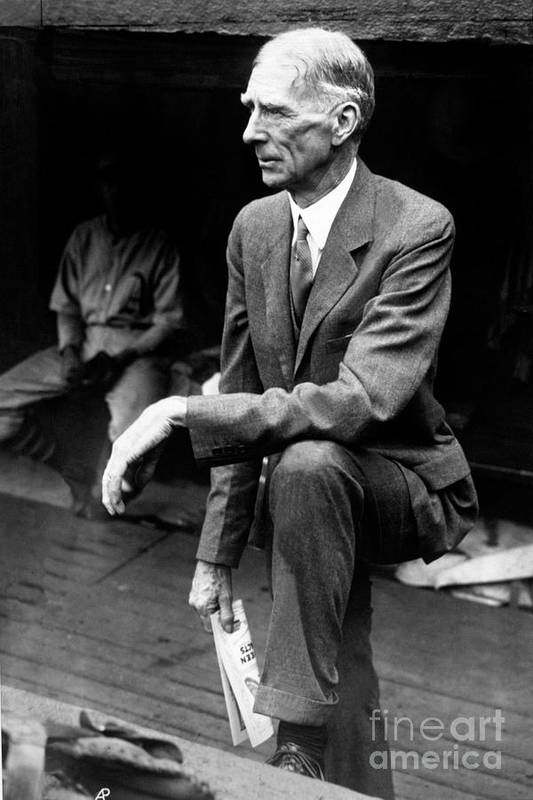 American League Baseball Art Print featuring the photograph Connie Mack by National Baseball Hall Of Fame Library