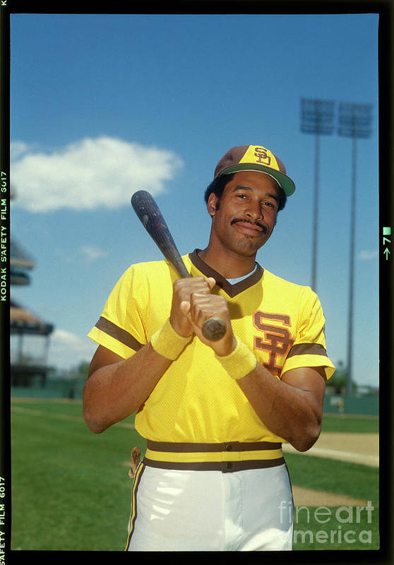Sports Bat Art Print featuring the photograph Dave Winfield by Louis Requena