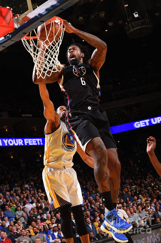 Nba Pro Basketball Art Print featuring the photograph Deandre Jordan by Noah Graham