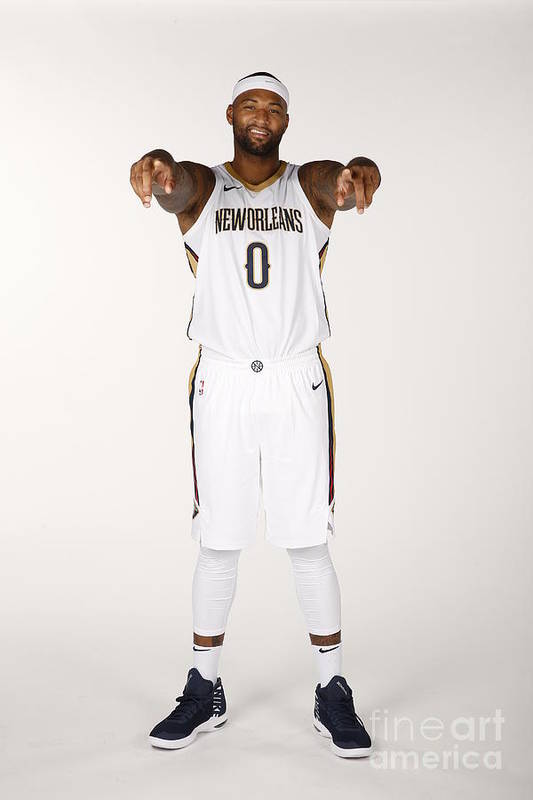 Media Day Art Print featuring the photograph Demarcus Cousins by Jonathan Bachman