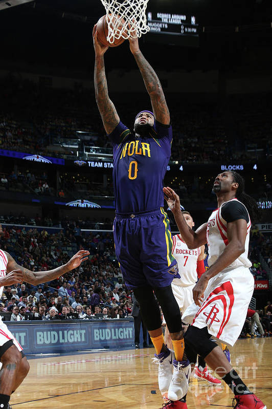 Smoothie King Center Art Print featuring the photograph Demarcus Cousins by Layne Murdoch