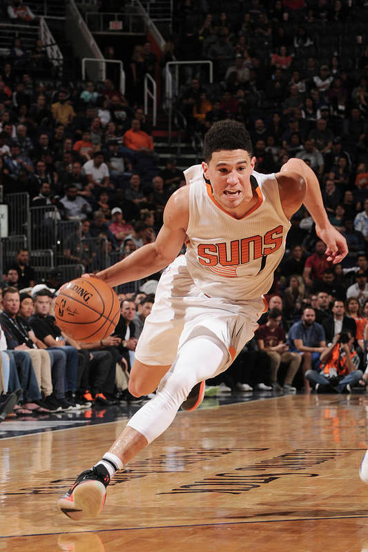 Nba Pro Basketball Art Print featuring the photograph Devin Booker by Michael Gonzales