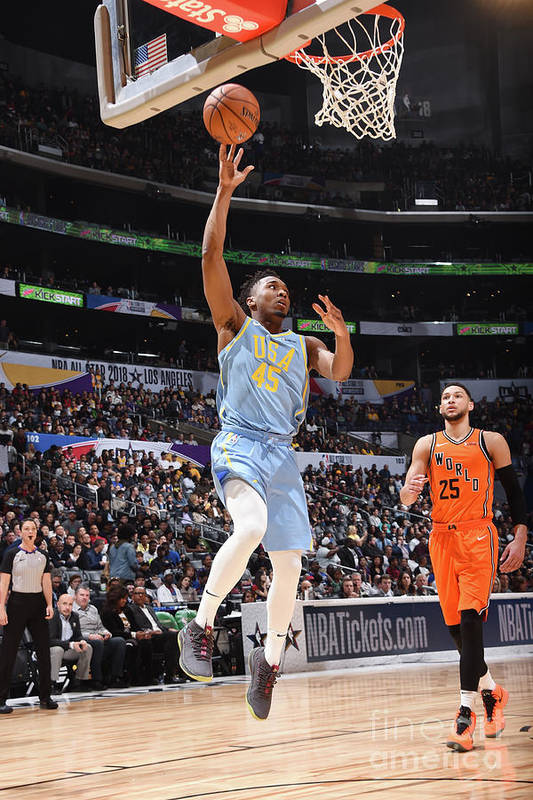 Event Art Print featuring the photograph Donovan Mitchell by Andrew D. Bernstein