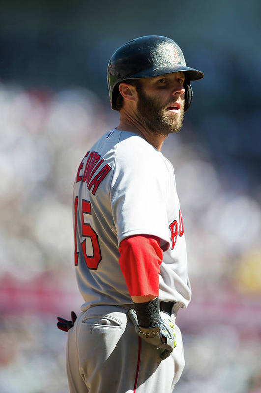 East Art Print featuring the photograph Dustin Pedroia by Rob Tringali