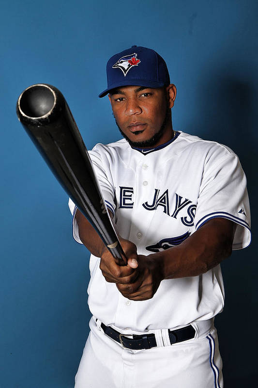 Media Day Art Print featuring the photograph Edwin Encarnacion by Marc Serota