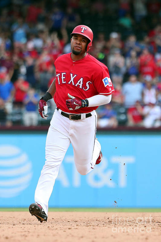 People Art Print featuring the photograph Elvis Andrus by Richard Rodriguez