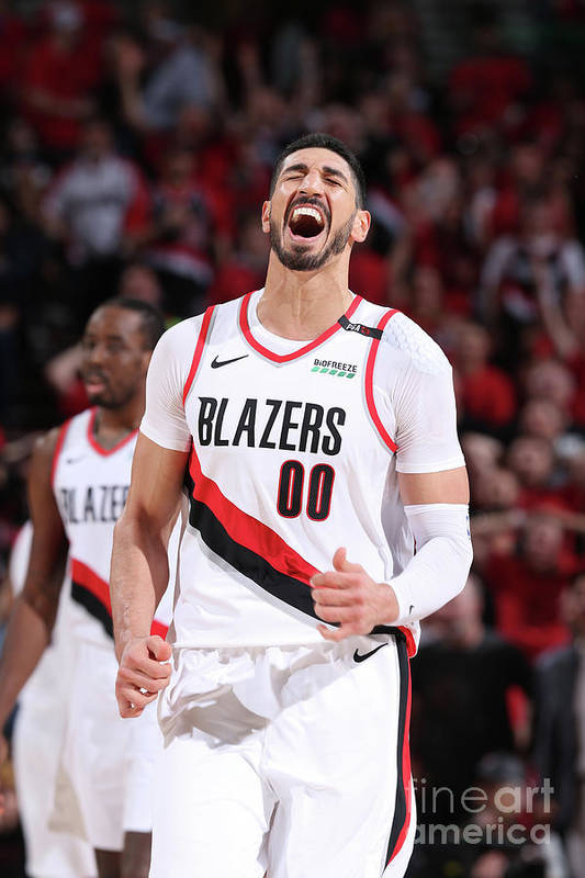 Playoffs Art Print featuring the photograph Enes Kanter by Sam Forencich