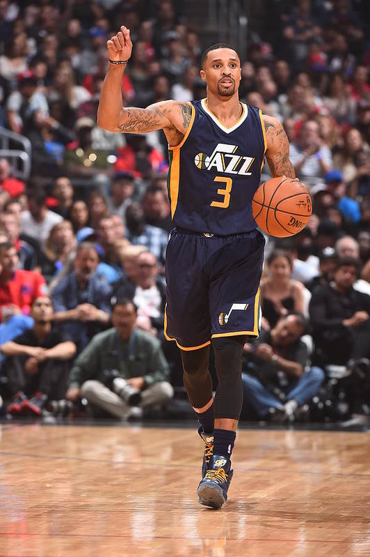 Nba Pro Basketball Art Print featuring the photograph George Hill by Andrew D. Bernstein