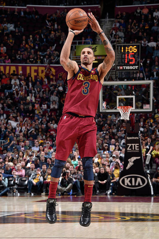 Nba Pro Basketball Art Print featuring the photograph George Hill by David Liam Kyle