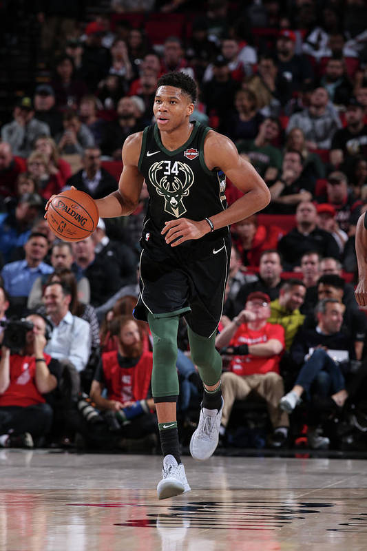 Nba Pro Basketball Art Print featuring the photograph Giannis Antetokounmpo by Sam Forencich