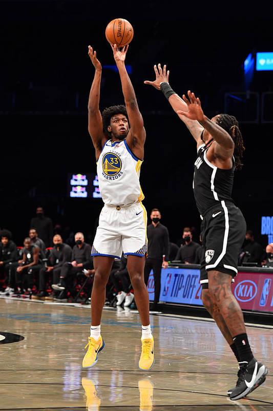 Nba Pro Basketball Art Print featuring the photograph Golden State Warriors v Brooklyn Nets by Jesse D. Garrabrant