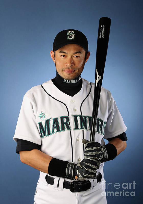 Media Day Art Print featuring the photograph Ichiro Suzuki by Christian Petersen