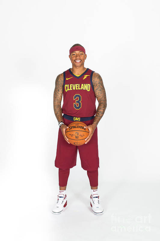 Media Day Art Print featuring the photograph Isaiah Thomas by Michael J. Lebrecht Ii