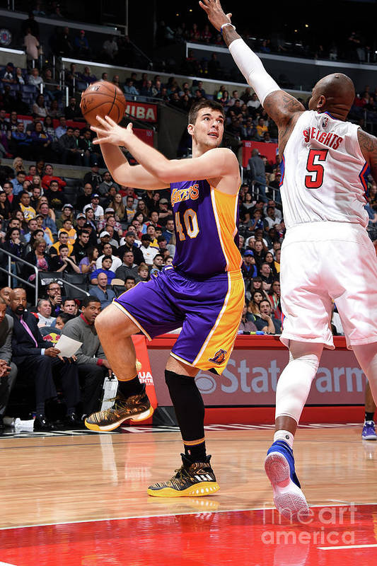 Nba Pro Basketball Art Print featuring the photograph Ivica Zubac by Andrew D. Bernstein