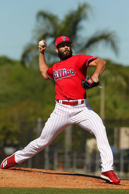 Clearwater Art Print featuring the photograph Jake Arrieta by Icon Sportswire