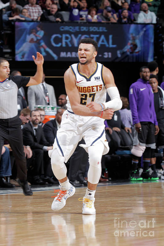 Nba Pro Basketball Art Print featuring the photograph Jamal Murray by Rocky Widner
