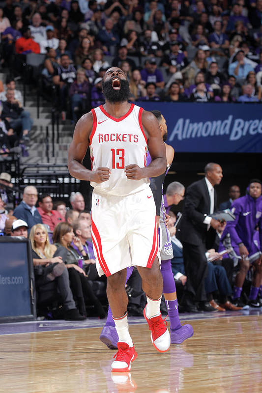 Nba Pro Basketball Art Print featuring the photograph James Harden by Rocky Widner