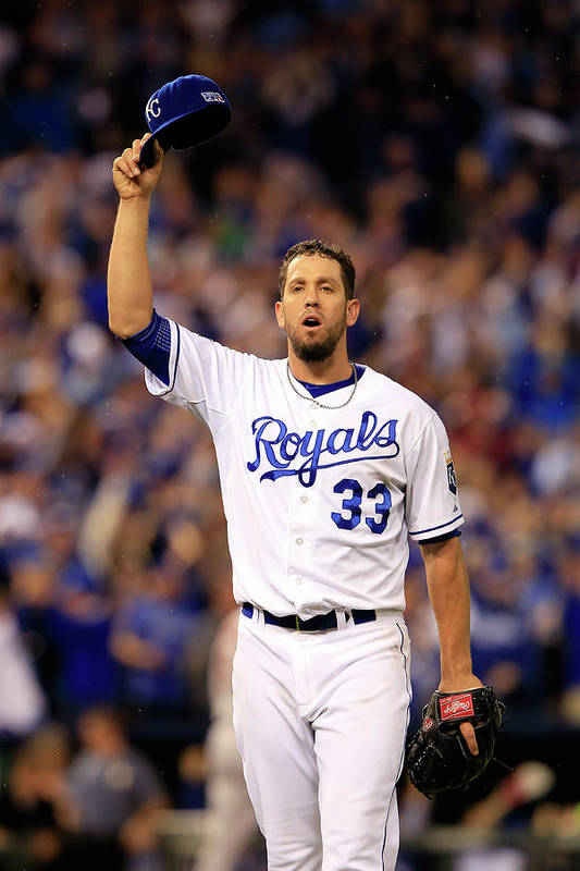 American League Baseball Art Print featuring the photograph James Shields by Jamie Squire