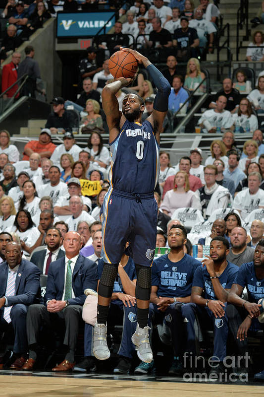 Playoffs Art Print featuring the photograph Jamychal Green by Mark Sobhani