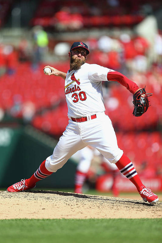 St. Louis Cardinals Art Print featuring the photograph Jason Motte by Dilip Vishwanat