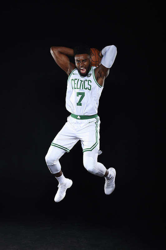Media Day Art Print featuring the photograph Jaylen Brown by Brian Babineau