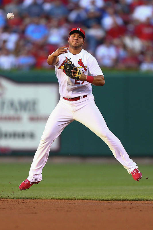 St. Louis Cardinals Art Print featuring the photograph Jhonny Peralta by Dilip Vishwanat