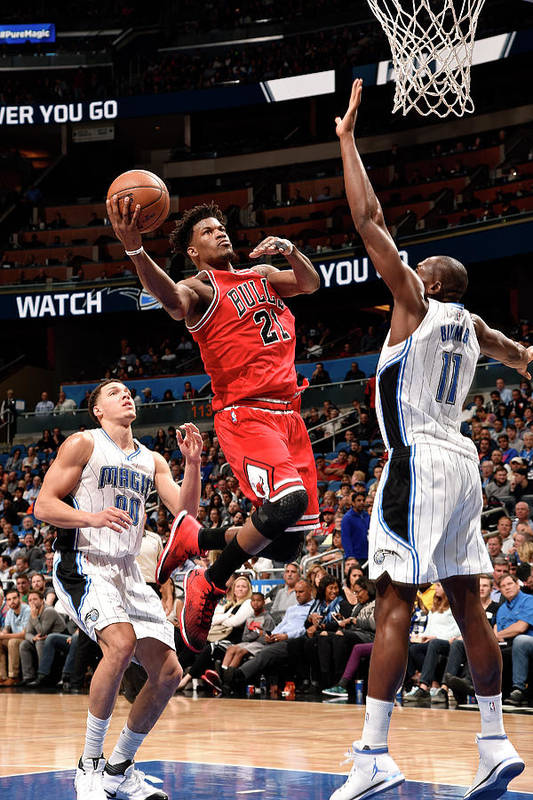 Nba Pro Basketball Art Print featuring the photograph Jimmy Butler by Gary Bassing