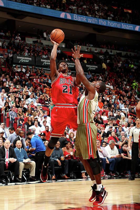 Nba Pro Basketball Art Print featuring the photograph Jimmy Butler by Joe Murphy