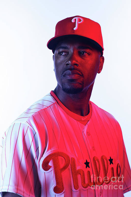 Media Day Art Print featuring the photograph Jimmy Rollins by Nick Laham