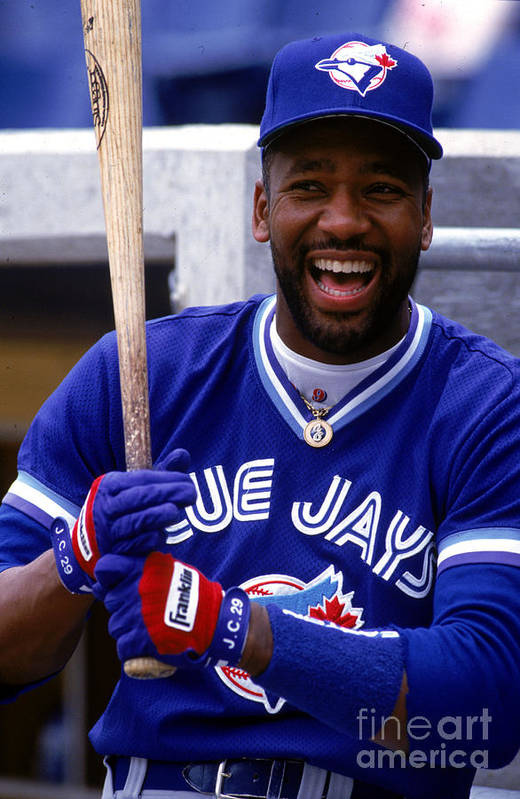 American League Baseball Art Print featuring the photograph Joe Carter by Ron Vesely