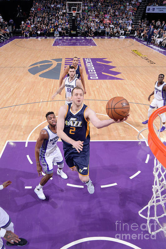 Nba Pro Basketball Art Print featuring the photograph Joe Ingles by Rocky Widner