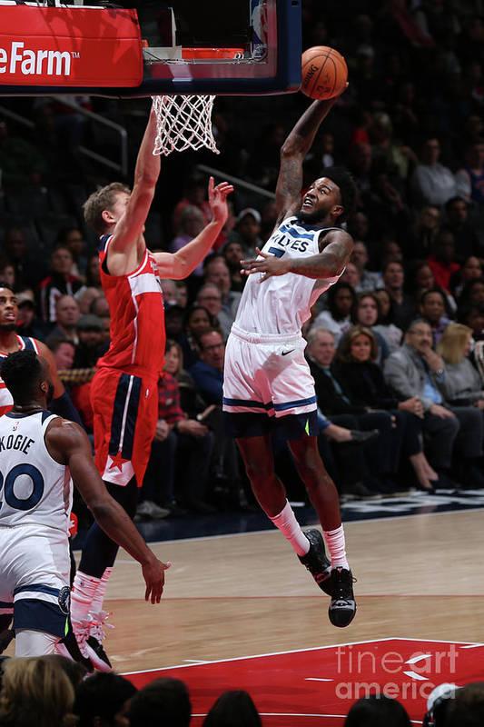 Nba Pro Basketball Art Print featuring the photograph Jordan Bell by Ned Dishman