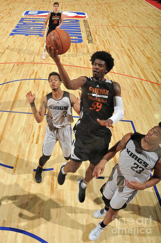 Nba Pro Basketball Art Print featuring the photograph Josh Jackson by Garrett Ellwood