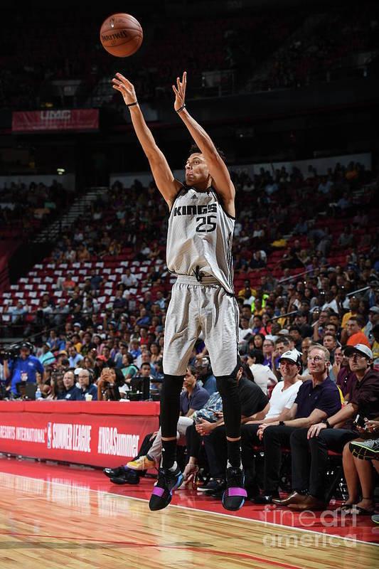 Nba Pro Basketball Art Print featuring the photograph Justin Jackson by Garrett Ellwood