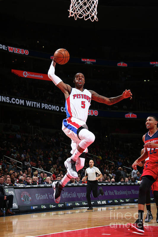 Nba Pro Basketball Art Print featuring the photograph Kentavious Caldwell-pope by Ned Dishman