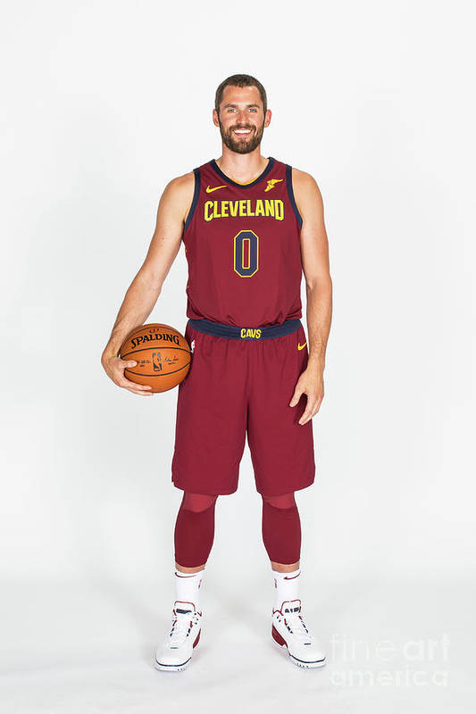 Media Day Art Print featuring the photograph Kevin Love by Michael J. Lebrecht Ii