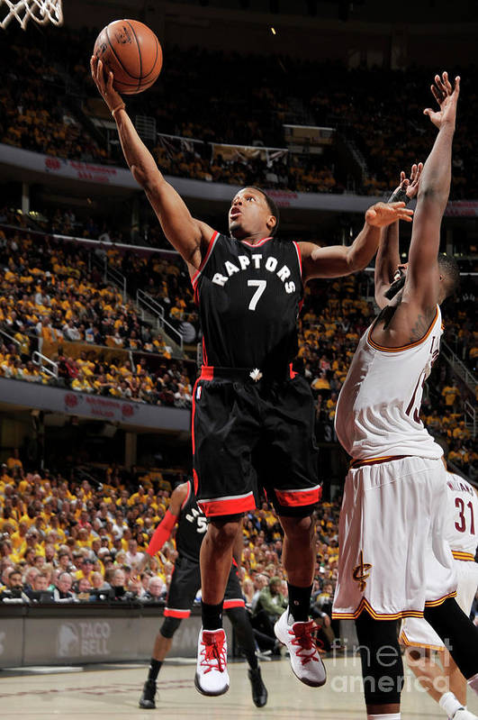 Playoffs Art Print featuring the photograph Kyle Lowry by David Liam Kyle