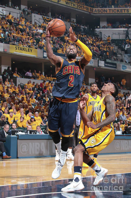 Playoffs Art Print featuring the photograph Kyrie Irving by Ron Hoskins
