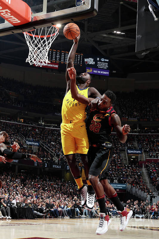Playoffs Art Print featuring the photograph Lance Stephenson by Nathaniel S. Butler