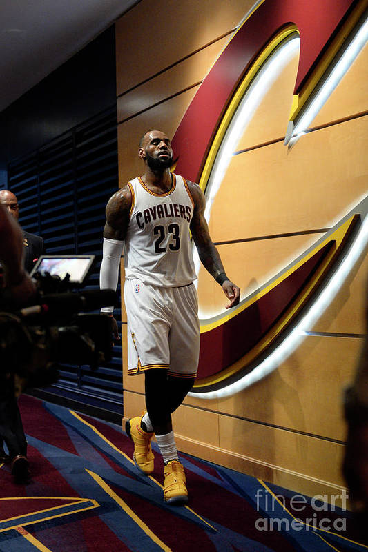 Playoffs Art Print featuring the photograph Lebron James by David Dow