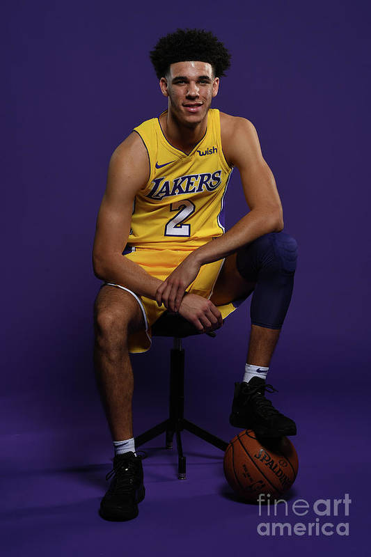 Media Day Art Print featuring the photograph Lonzo Ball by Aaron Poole