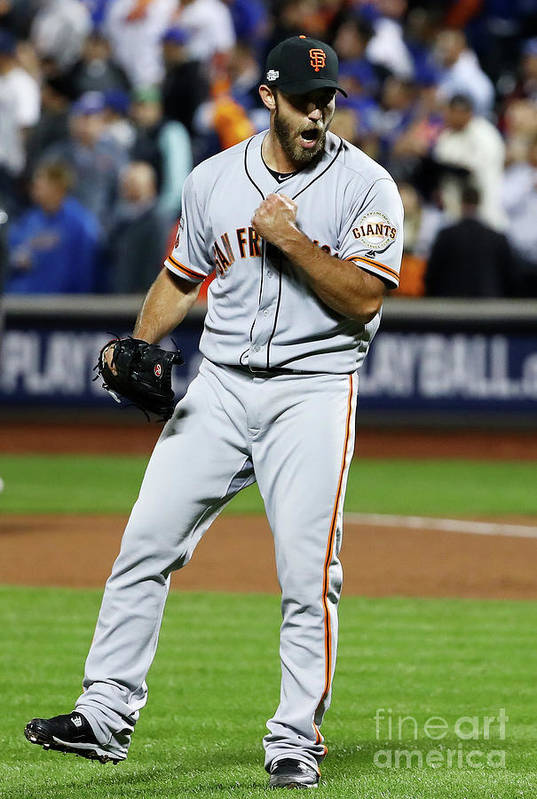 Playoffs Art Print featuring the photograph Madison Bumgarner by Al Bello